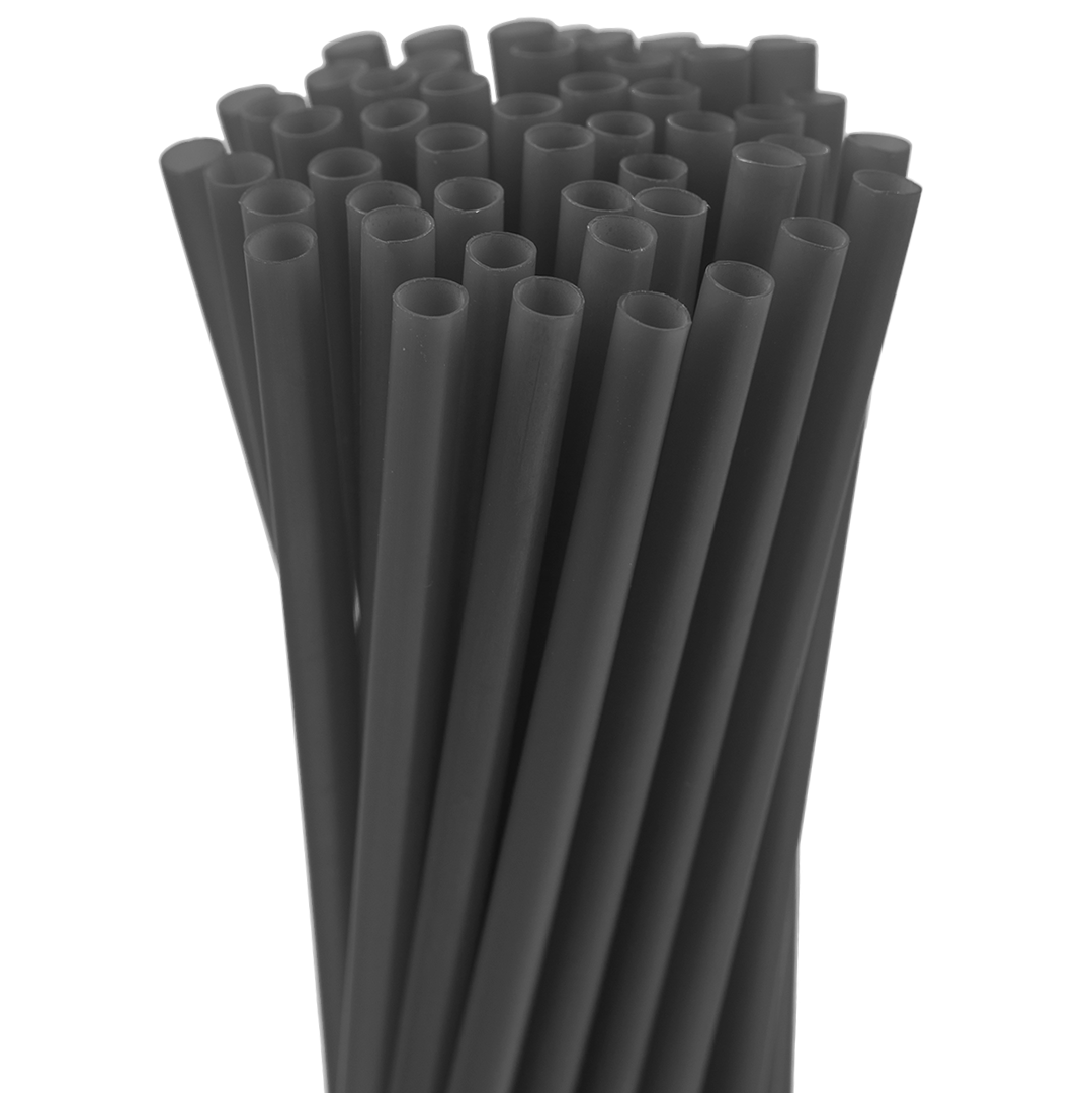 10.25″ Black Super Jumbo Straw