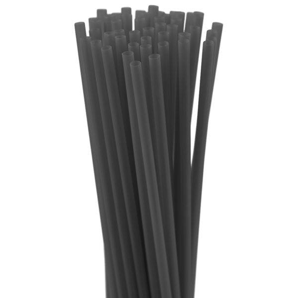 8″ Black Slim Straw