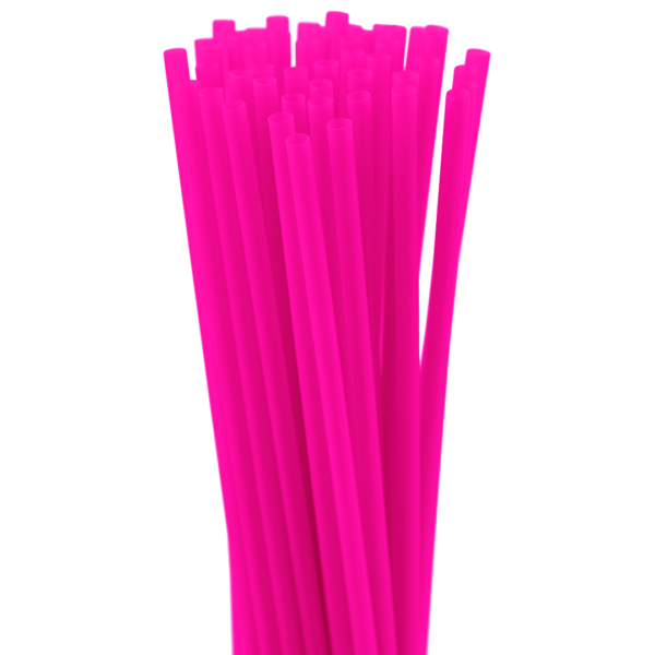 8″ Cranberry Cocktail Straw