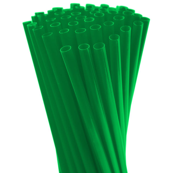 8″ Neon Green Fat Straw