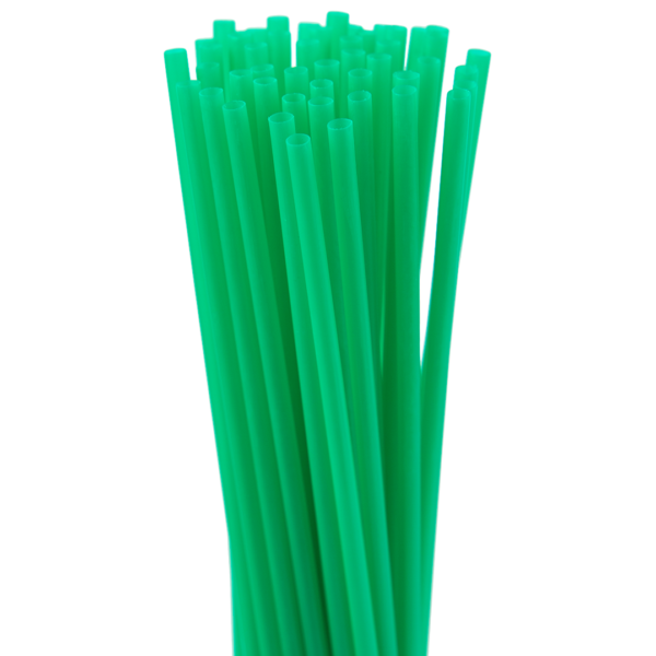 8″ Green Slim Straw