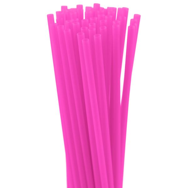 8″ Neon Pink Slim Straw