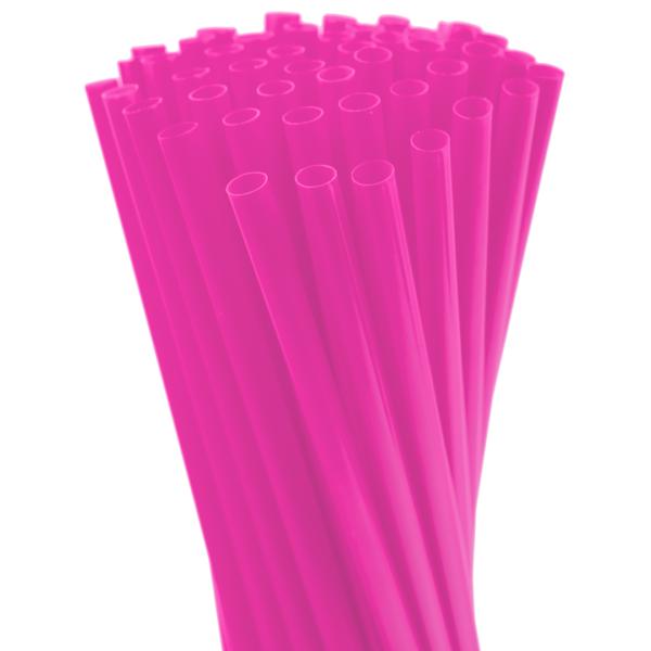 8″ Neon Pink Fat Straw