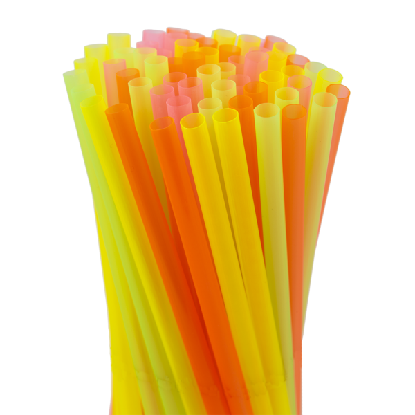 8″ Assorted Neon Jumbo Straw