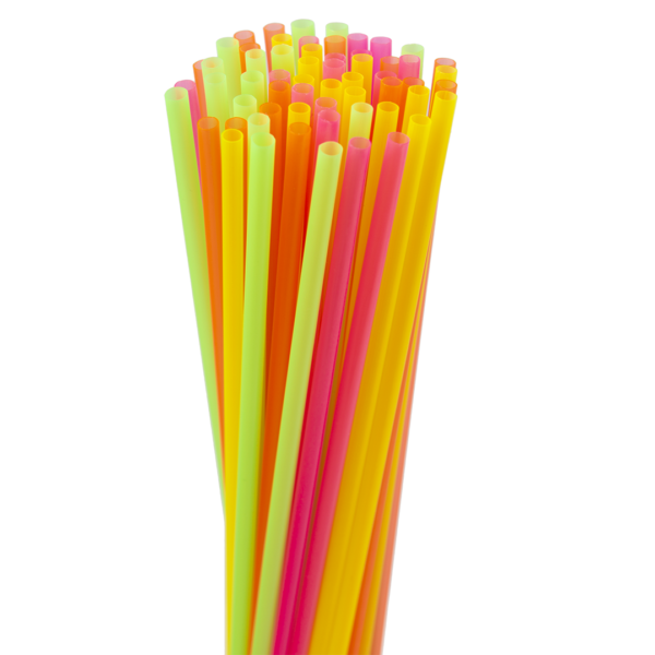 5.25″ Assorted Neon Sip Straw