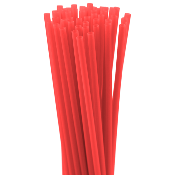 8″ Red Slim Straw