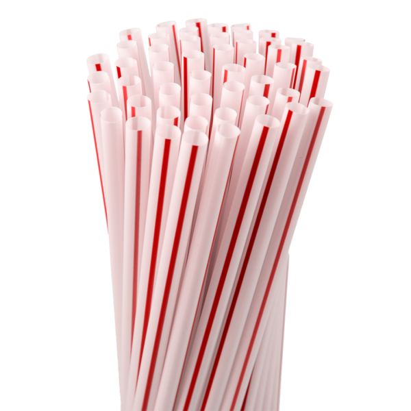 7.75″ Striped Jumbo Straw