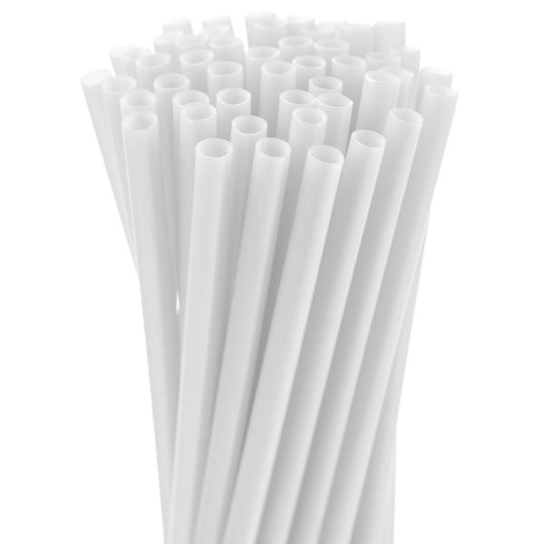 5.75″ White Jumbo Straw