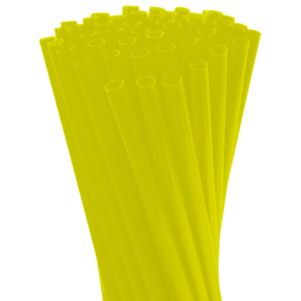 8″ Neon Yellow Fat Straw